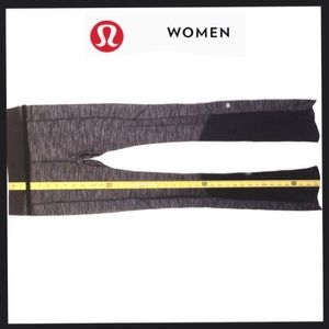 Lululemon Heather Gray w Black Band @ round flares